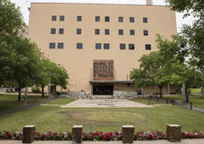 俄克拉何马市全国纪念品&博物馆的前面 免版税库存照片
