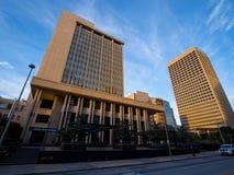 俄克拉何马总部银行在街市俄克拉何马市-俄克拉何马市-俄克拉何马- 2017年10月18日的 免版税库存照片