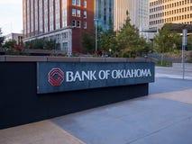 俄克拉何马总部银行在街市俄克拉何马市-俄克拉何马市-俄克拉何马- 2017年10月18日的 免版税图库摄影