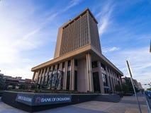 俄克拉何马总部银行在街市俄克拉何马市-俄克拉何马市-俄克拉何马- 2017年10月18日的 免版税库存图片