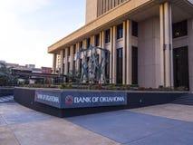 俄克拉何马总部银行在街市俄克拉何马市-俄克拉何马市-俄克拉何马- 2017年10月18日的 库存照片