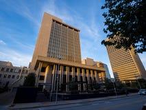 俄克拉何马总部银行在街市俄克拉何马市-俄克拉何马市-俄克拉何马- 2017年10月18日的 库存图片