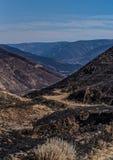 俄勒冈分站火-被烧的数千英亩 Deschutes河峡谷2 免版税库存图片