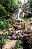 俄勒冈小瀑布山,银落国家公园 免版税图库摄影