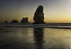 俄勒冈海岸海滩 免版税库存照片