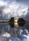 俄勒冈海岸海滩 库存照片