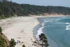 俄勒冈海岸的视图 库存图片