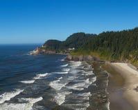 俄勒冈海岸线的看法 库存图片
