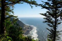 俄勒冈海岸线的看法 库存照片