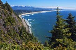 俄勒冈海岸远景 免版税库存图片