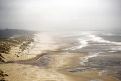 俄勒冈海滩 库存照片