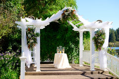 俄勒冈由湖的婚礼地点 图库摄影