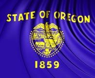 俄勒冈,美国的旗子 免版税库存图片