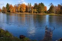 俄国。 圣彼德堡。 Gatchina。 秋天 库存图片