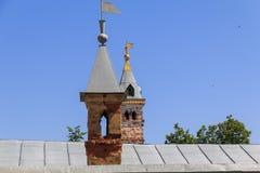 俄国上古烟囱  免版税库存照片