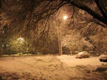 俄国不可思议的冬天光 免版税库存图片