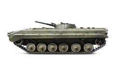 俄国与裁减路线的步兵轻型坦克BMP-2 免版税库存照片