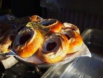 俄国丹麦酥皮点心面包店 免版税库存照片