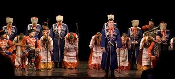 俄国人库班河州农业大学哥萨克人唱诗班 免版税图库摄影