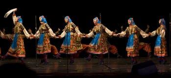 俄国人库班河州农业大学哥萨克人唱诗班 库存照片