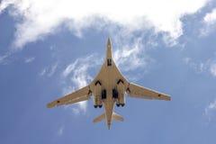 俄国人战略轰炸机图-160白色天鹅 免版税库存照片