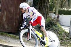 俄国人Egor Silin骑自行车者 库存图片