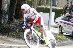 俄国人Egor Silin骑自行车者 图库摄影
