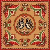 俄国传统装饰品 免版税图库摄影