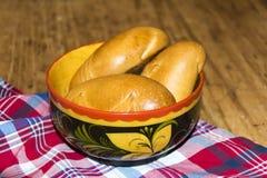 俄国传统饼pierog pirog 图库摄影