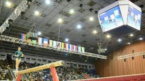俄国体操运动员,体育竞赛,史特拉Zakharo 影视素材