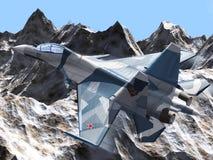 俄国作战飞机 图库摄影