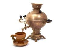 俄国俄国式茶炊 免版税库存照片