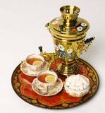 俄国俄国式茶炊 免版税图库摄影