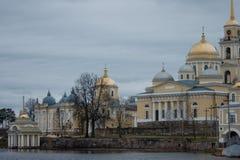 俄国修道院 免版税库存照片