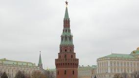 俄国克里姆林宫,特写镜头视图,历史大厦塔  影视素材