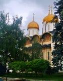 俄国克里姆林宫jinding的教会 免版税库存照片