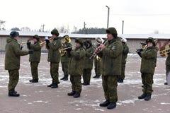 俄国军乐队 库存照片