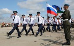 俄国军事游行08威严2015年 库存照片