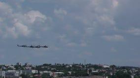 俄国军事直升机Mi28N速度 影视素材