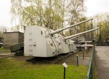 俄国军用反小船大炮 免版税库存照片