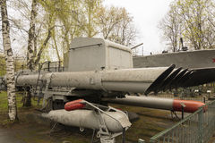 俄国军用反小船鱼雷发射器 库存图片
