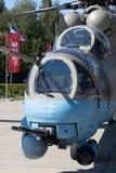 俄国军用直升机Ми28 库存照片
