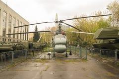 俄国军用直升机 免版税库存照片