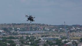 俄国军用直升机Mi28N24 股票视频