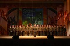 俄国军队的军事唱诗班 库存照片