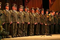 俄国军队的军事唱诗班 免版税库存图片
