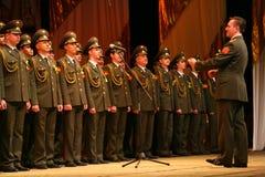 俄国军队的军事唱诗班 库存图片