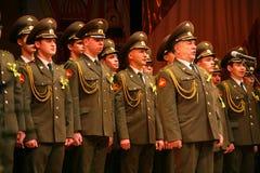 俄国军队的军事唱诗班 免版税图库摄影