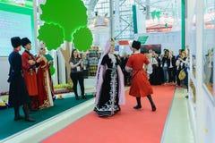 俄国农业的和工业的陈列金黄秋天 库存图片