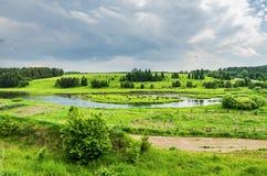 俄国农村横向 免版税图库摄影